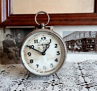 Antique alarm clock, Vintage alarm clock,J.K, J. Kaiser, rare clock, mechanical