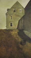 Vintage Art Andrew Wyeth Weather Side 1965 Colonial Americana House Barn Bucket