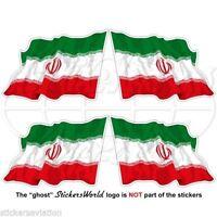 "IRAN Iranian Flying Flag Persia, Persian 50mm (2"") Vinyl Decals, Stickers x4"