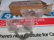 Mopar NOS 1966 Dodge Dart RH-LH PAIR Of Front T/Signal Lenses 2585091-2