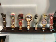 BUDWEISER LIMITED EDITION COLLECTION. 7 beer tap handles. STAND INCLUDED