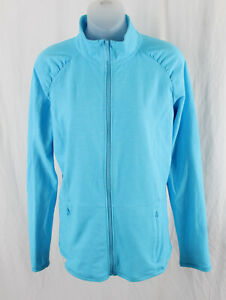 Lilly Pulitzer Luxletic Turquoise Blue Full Zip Weekender Jacket Size L