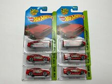 HOT WHEELS 2015 RED TOYOTA AE-86 COROLLA TRUENO HW WORKSHOP JDM DRIFT LOT OF 6