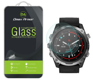 2x Dmax Armor Tempered Glass Screen Protector for Garmin Descent MK2 (52mm)
