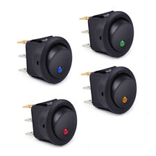 4x Waterproof ON/OFF Car 12V Round Rocker Dot Boat LED Light Toggle Switch Hot