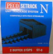 Peco ST-8. 2 Sleeper Built Buffer Stops. (N Gauge) (Model Railways)