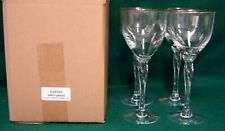 Lenox UNITY (GOLD) Water Goblets (Wide)  SET OF FOUR MINT IN BOX