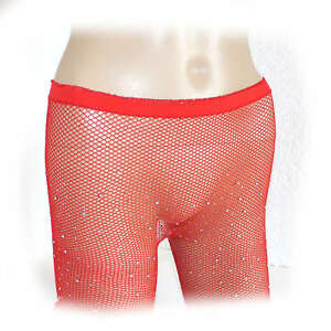 Fashion Ladies Crystal Fishnet Net Tights Sequin Size One Size (2755)