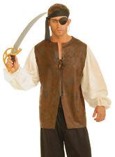 Morris Costumes Men's Closure Leather Look Buccaneer Pirate Costume XL. FM60802