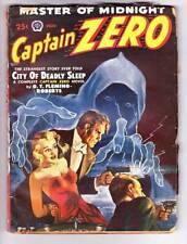 Pulp CAPTAIN ZERO #1 - 1949 -