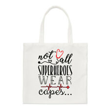 Nurse Doctor Paramedic Not All Superheroes Wear Capes Small Tote Bag - Shoulder