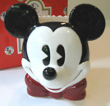 MICKEY MOUSE FACE CONTAINER Classic Vase Pencil Cup Disney Enesco W/Gift Box NOS