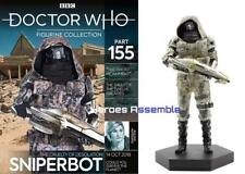 DOCTOR WHO FIGURINE COLLECTION #155 SNIPERBOT EAGLEMOSS NEW (153 154)