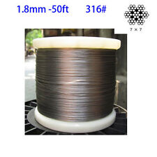 1.8mm 316 Stainless Steel Cable Wire Rope Grade 7x7 wire rope  50ft