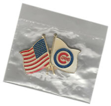 "1991 CHICAGO CUBS VINTAGE MLB BASEBALL FLAG 1.25"" TEAM PIN BUTTON LICENSED"