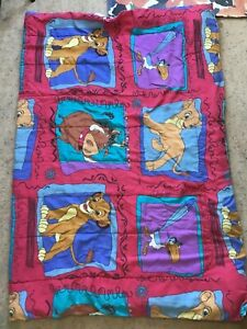 VTG 90's DISNEY LION KING Comforter and Top Sheet