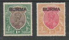 BURMA SG13&14 THE 1937 GV 1r & 2r (in GVI CROWN ALBUM) MOUNTED MINT CAT £120
