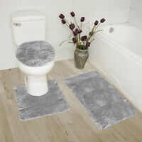 Beige /& Sage 3 Piece Elite Bath Rug Set Brick Design with Dual colors