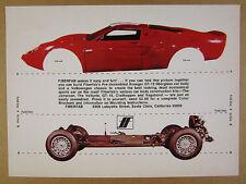 1969 FIBERFAB Avenger GT-12 Body & VW Volkswagen Chassis photo vintage print Ad