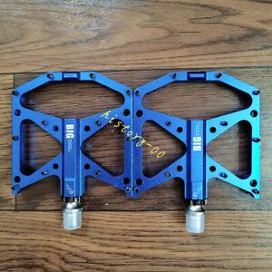 Aluminum 3 Bearings Bicycle Pedals Anti-slip Road MTB XC Bike Cycling Pedal Blue