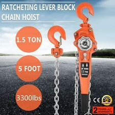 1-1/2Ton 10Ft Ratcheting Lever Block Chain Hoist For Sale Ship