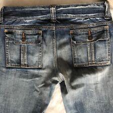 Younique -Size 9- Women's Blue Medium Wash Skinny Jeans Low Rise Double Button