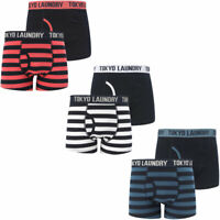 New Mens Tokyo Laundry Morden 2 (2 Pack) Striped Boxer Shorts Set Size S - XXL
