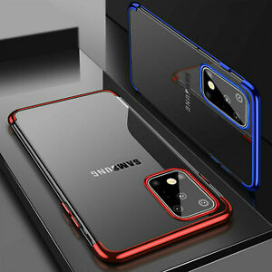 For Samsung Galaxy S10 Lite 2020 S20 A51 A71 Silicone TPU Plating Gel Case Cover