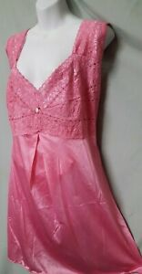"""Amourseuse Pink Babydoll Nightgown Sexy Stretch Top Plus 3X  56"""" BUST"""