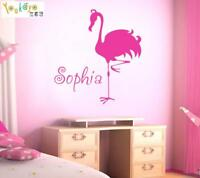 Personalized Name Wall Sticker Flamingo Wall Decal Kids Room Bedroom Home Decor