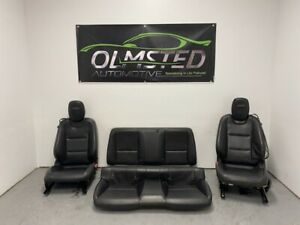 10 15 Camaro SS Front Rear Driver Passenger Power Leather Seats Ebony GM 91K