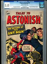 TALES TO ASTONISH 35 CGC 5.0 OWW pgs 1st ANT-MAN Costume Origin 1962 Marvel key