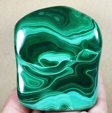 Best Collection ! Natural Green Malachite Crystal Chatoyant Rough Polished