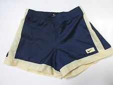 Nike VTG NB Yellow Nylon Running Super Lightweight Shorts Mesh Lined Wo's S AC18