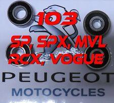 Jeu 4 roulements roue peugeot 103 SP, SPX, MVL, RCX, vogue