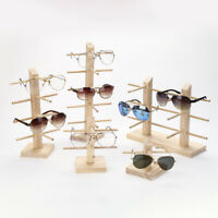 Wood Sunglasses Eyeglass Rack Glasses Display Stand Holder Organizer Tray Fr JF