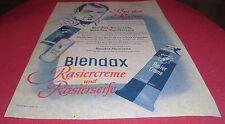blendax rasier creme seife hautcreme rasur rasierseife  alt reklame werbung 1952
