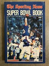 THE SPORTING NEWS TSN NFL FOOTBALL SUPER BOWL BOOK GUIDE - 1987