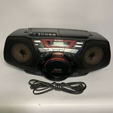 Sony Cfd-G50 Cd Radio Cassette-corder Twin Amplifier System Power Drive Woofer