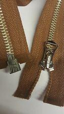 1 × 24'' inch Talon Repro vintage style brown Metal jacket Zip-Zipper *free p&p