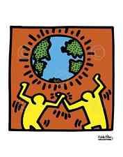 KH02 by Keith Haring Art Print Dancing Globe Pop Poster 11x14