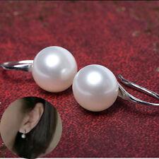 Heiß!Elegant Feminin Ohrschmuck Silber beschichtet Ohrring mit groß weiß Perle