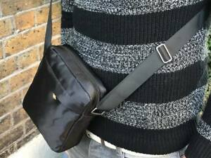 New Men Cross Body Messenger Shoulder Utility Travel Work Waterproof Black Bag
