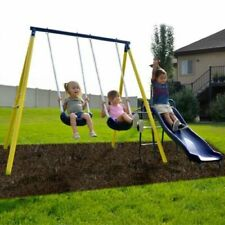 Outdoor Fun For Kids Backyard Play Toddler Garden Patio Toy Heavy Duty Swing Set