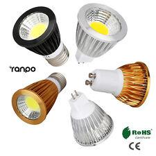 Dimmable COB LED Spot light Bulbs GU10 MR16 E27 6W 9W 12W AC 110V 220V 12V Lamp