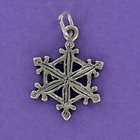 Snowflake Charm Sterling Silver 925 for Bracelet Winter Holiday Christmas