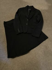 Womens Navy Skirt Suit Size 14