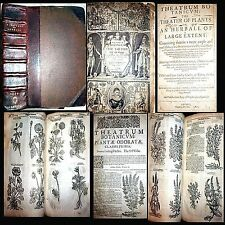1640 THEATER OF PLANTS JOHN PARKINSON 1ST EDITION 3800 PLANTS APOTHECARY HERBAL