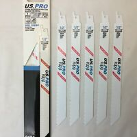 5 X S1122BF US.PRO RECIP SAW BLADES METAL FLEXIBLE for BOSCH 14tpi 225mm bimetal