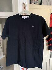 Men's Small Black Comme des Garcons Play T-Shirt Little Black Heart